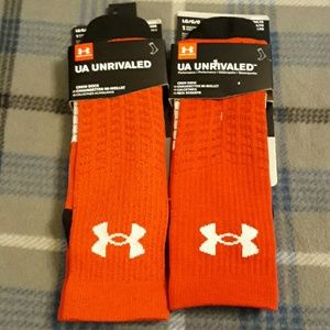 2 pairs of Underarmour Red Socks